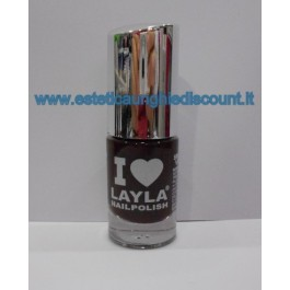 Layla Nail Polish Smalto I Love Layla  - 24 RED NOIR