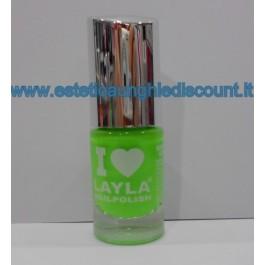 Layla Nail Polish Smalto I Love Layla  - 08 LIGHT GREEN FLUO