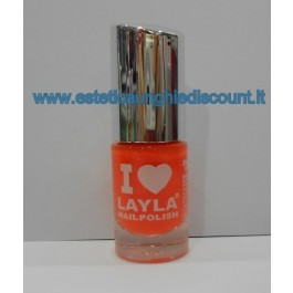 Layla Nail Polish Smalto I Love Layla  - 07 ORANGE FLUO