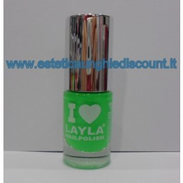 Layla Nail Polish Smalto I Love Layla  - 06 DARK GREEN FLUO