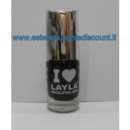 Layla Nail Polish Smalto I Love Layla  - 03 BLACKY