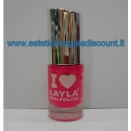 Layla Nail Polish Smalto I Love Layla  - 09 PINK FLUO