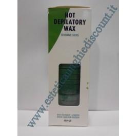 Dischetti di cera riutilizzabile alla CLOROFILLA per pelli sensibili 400gr