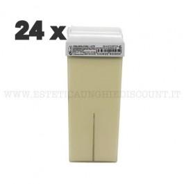Scatola 24 Cera Liposolubile Ro.ial Rullo Cartuccia da 100 ml al LATTE