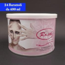 Cera Liposolubile Roial Barattolo al Titanio 400 ml conf.24 pezzi