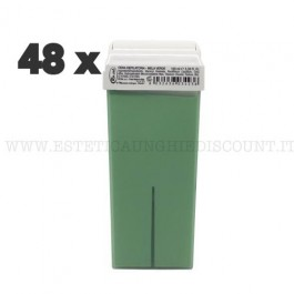 Scatola 48 Cera Liposolubile Ro.ial Rullo Cartuccia da 100 ml alla Mela Verde