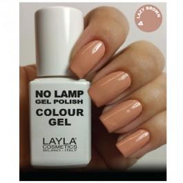 LAYLA Gel Polish NO LAMP -  4 LAZY BROWN