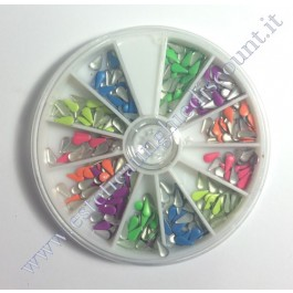 Rondella Nail Art Borchiette a Goccia Colorate