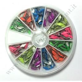 Rondella Nail Art Borchiette Romboidali Colorate