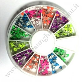 Rondella Nail Art Borchiette Triangolari Colorate