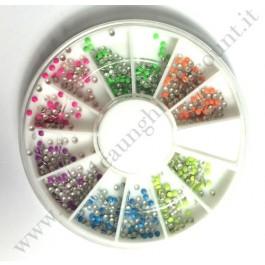 Rondella Nail Art Borchiette Rotonde Colorate