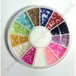 Rondella Nail Art Mezze Perle Colorate 1