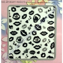 Stickers Nail Art Baci