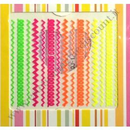 Stickers Nail Art Fantasia FLUO