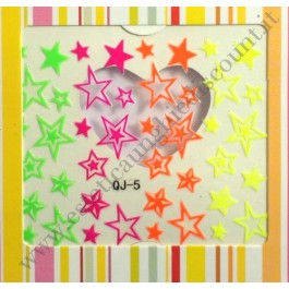 Stickers Nail Art Stelle Fluo
