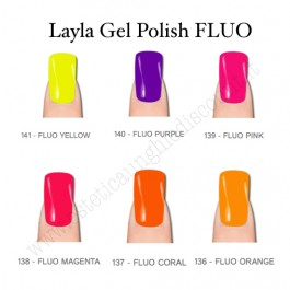 Set 6 Colori FLUO Smalto semipermanente LAYLA da 10 ml