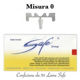 Lame SAFE LA109S sterilizzate n°0 Confezione da 50 pezzi