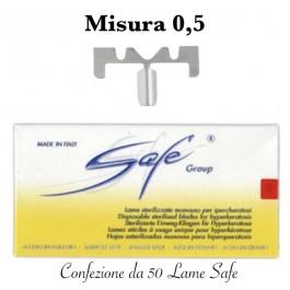 Lame SAFE LA110S sterilizzate n°0.5 Confezione da 50 pezzi