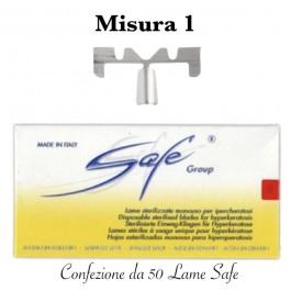 Lame SAFE LA111S sterilizzate n°1 Confezione da 50 pezzi
