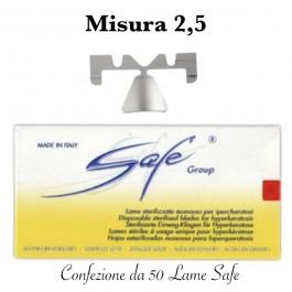 Lame SAFE LA114S sterilizzate n°2.5 Confezione da 50 pezzi