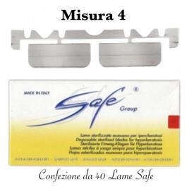 Lame SAFE sterilizzate n°4 Confezione da 40 pezzi