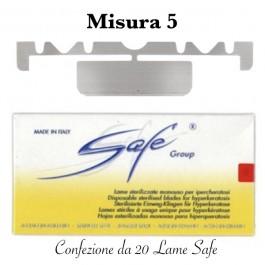 Lame SAFE sterilizzate n°5 Confezione da 20 pezzi