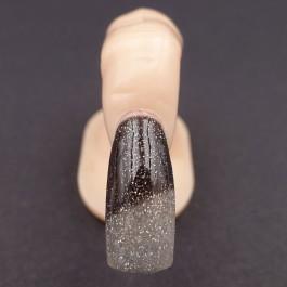 Gel Unghie Colorato UV/LED Termico - GLITTER NERO/ARGENTO T2