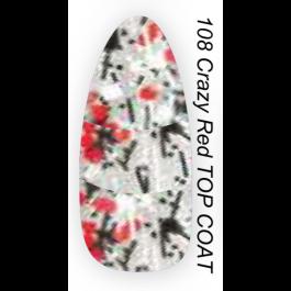 Layla Gel Polish Smalto Gel Semipermanente -  108 CRAZY RED TOP COAT