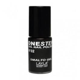 Layla One Step Gel Nail Polish smalto semipermanente - 02 100% BLACK
