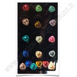 SET decorazioni nail art Cuori Colorati