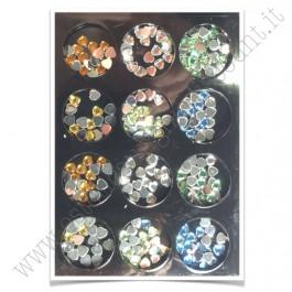 SET decorazioni nail art Cuoricini Colorati