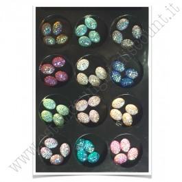 SET decorazioni nail art Deco Brillantini Ovali