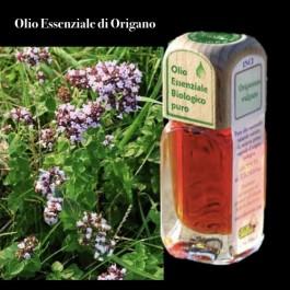 Puro olio essenziale d'origine BIOLOGICA di ORIGANO (Origanum vulgare)