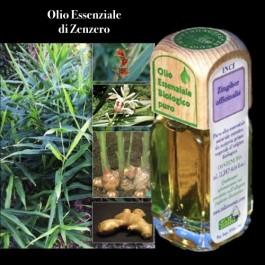 Puro olio essenziale d'origine BIOLOGICA di ZENZERO (Zingiber officinalis).