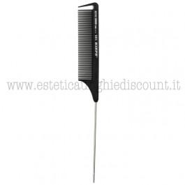 Pettine a coda metallica in fibra di carbonio