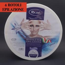 4 X Rotoli Strisce carta per epilazione Ro.ial.