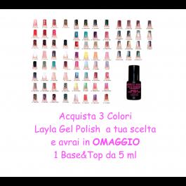 3 Layla Gel Polish Color + OMAGGIO 1 Base&Top