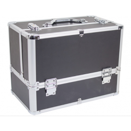 BEAUTY CASE BELLEZZA ALUMINIUM BLACK