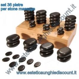 Set 36 pietre basaltiche per Stone Massage