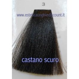 Tinta Capelli Professionale CorIng ING agli acidi di frutta da 100 ml - 3 CASTANO SCURO