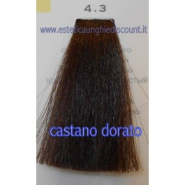 Tinta Capelli Professionale CorIng ING agli acidi di frutta da 100 ml - 4.3 CASTANO DORATO