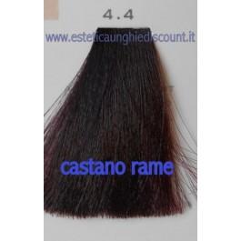 Tinta Capelli Professionale CorIng ING agli acidi di frutta da 100 ml - 4.4 CASTANO RAME