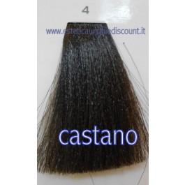 Tinta Capelli Professionale CorIng ING agli acidi di frutta da 100 ml - 4 CASTANO