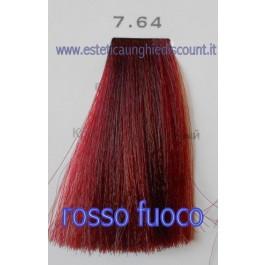 Tinta Capelli Professionale CorIng ING agli acidi di frutta da 100 ml - 7.64 ROSSO FUOCO