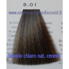 Tinta Capelli Professionale CorIng ING agli acidi di frutta da 100 ml - 8.01 BIONDO CHIARO NATURALE CENERE