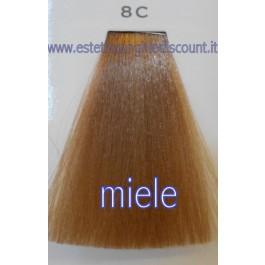 Tinta Capelli Professionale CorIng ING agli acidi di frutta da 100 ml - 8C MIELE