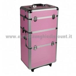 Trolley rosa per accessori unghie/estetica