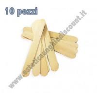 10 Spatola in legno Monouso