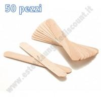 50 Spatola in legno Monouso