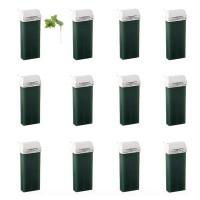 Kit 12pz GREEN CLOROFILLA- Cartucce di Cera Calda Verde Epilatoria da 100ml cadauna Testina Larga